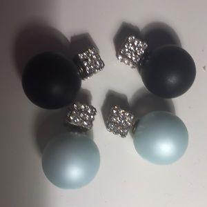 Two pair of trendy earrings